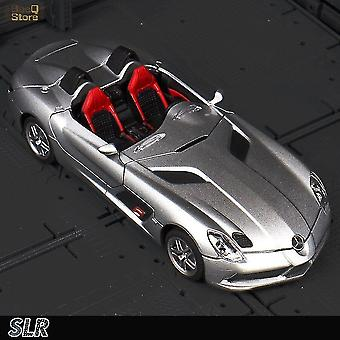 Toy cars 1:32 benzcar slr roadster die cast alloy cars model 1/32 alloy car racing supercar boy christmas gift