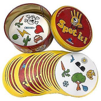 8+ Dobble Spot it Kartenspiel mit Tieren, Alphabeten und Zahlen (R)