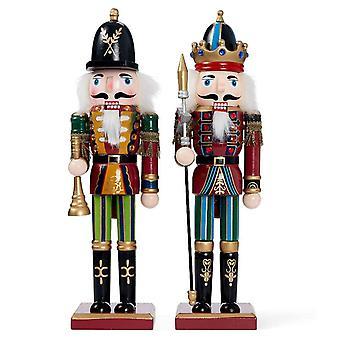 30cm Kerst Houten Notenkraker Soldaat Traditionele Kerst Speelgoed Ornamenten