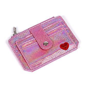 Wallet Slim Money Credit Card Holder Id Business Women Laser Shining Pu Leather Purse Case