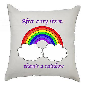Etter hver storm er det et regnbueputedeksel 40cm x 40cm