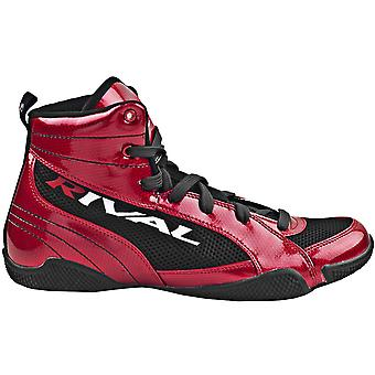 Rival Boxing RSX-Guerrero Shiny Lo-Top Boxing Boots - Candy Apple Red/Black