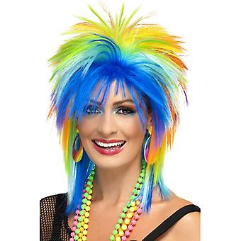 Neon wig 80 's rainbow kolorowe punk Rainbow wig