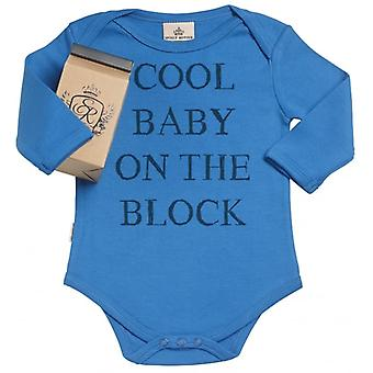 Spoilt Rotten Cool Baby On Block Organic Babygrow In Gift Milk Carton