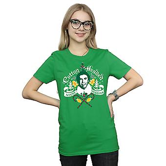 Elf Women's Cotton Headed Ninny Muggins Boyfriend Fit T-Shirt