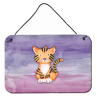 Tiger Cub aquarelle mur ou une porte suspendue imprime