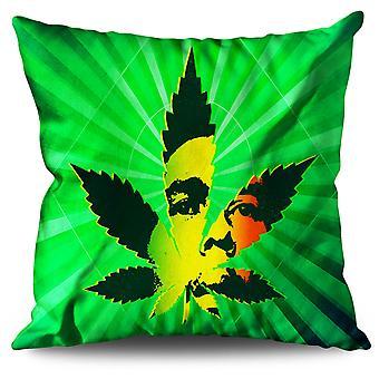 Bob Marley 42 Weed Linen Cushion 30cm x 30cm | Wellcoda
