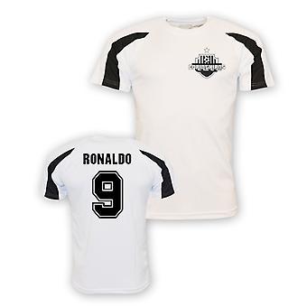 Ronaldo Corinthians Esportes treinamento Jersey (branco)