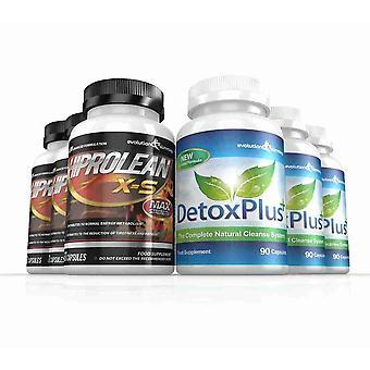 Hiprolean X-S hochfesten Fat Burner und Combo Pack - 3-Monats-Vorrat - Fatburner zu reinigen und Darmreinigung - Evolution abnehmen