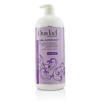 Ouidad Curl Immersion No-lather Coconut Cream Cleansing Conditioner (kinky Curls) - 1000ml/33.8oz