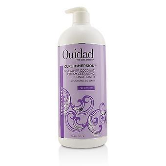 Ouidad curl onderdompeling no-schuimer Kokoscrème reinigende Conditioner (kinky krullen)-1000ml/33,8 oz