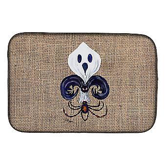 Halloween ånd Spider Bat Fleur de lis parabolen tørking Mat