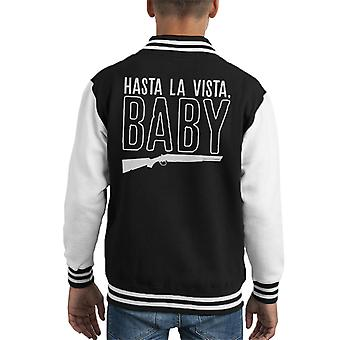 Hasta La Vista Baby Terminator 2 Judgment Day Kid's Varsity Jacket