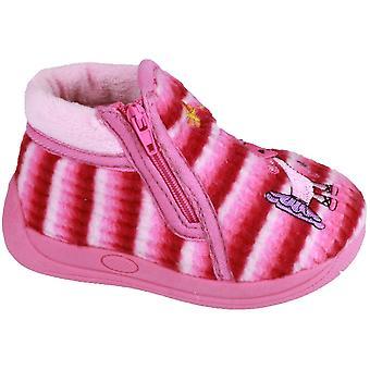 Mirak chicas Safari acolchado historieta detallada botín zapatilla rosa