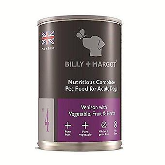 Billy + Margot Venison Complete Wet Food for Dogs 395g