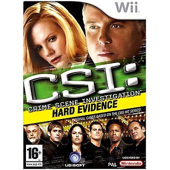 CSI Crime Scene onderzoek-hard evidence (Wii)-fabriek verzegeld