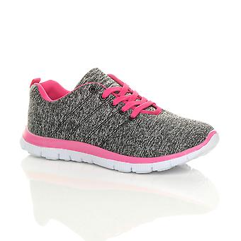 Ajvani womens lace up comfort gym trainers sneakers sport plimsolls