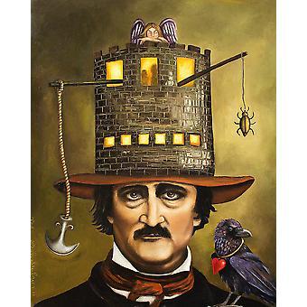 Edgar Allan Poe Hat Poster Poster afdrukken