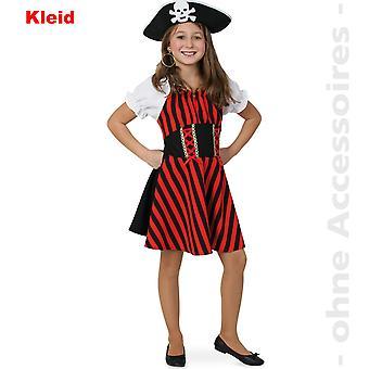 Piratin der Meere Kinder Kostüm Piratenkostüm Seeräuberin Freibeuterin Kinderkostüm