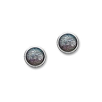 Sterling Silver Traditional Contemporary Astrology Zodiac Sign Design Pair of Earrings - EE577