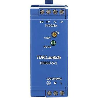 TDK-Lambda DRB-50-5-1 PSU montado en riel (DIN) 5 V DC 2.5 A 30 W 1 x