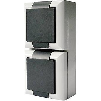 GAO 9170 Wet room switch product range Twin socket Business-Line Grey