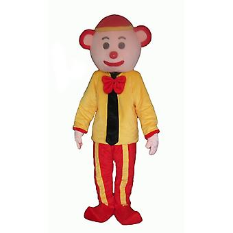 mascot SPOTSOUND of yellow and Red clown with a tie