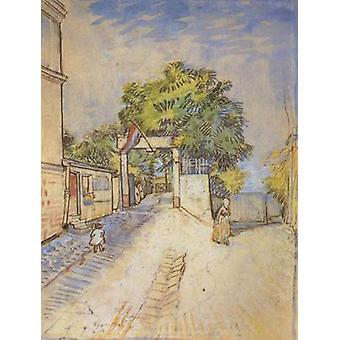De ingang van een Belvedere, Vincent van Gogh, 31,5 x24cm
