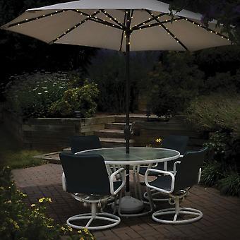 72 LED sombrinha psto Solar Umbrella fada String luzes dupla função