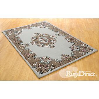 Royal Indian Creme-Beige Das Design ist in den Farben beige, rosa und grün auf einem Sahnehinter Rectangle geknüpfte Teppiche