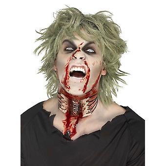 Zombie exponerade halsen såret, kött