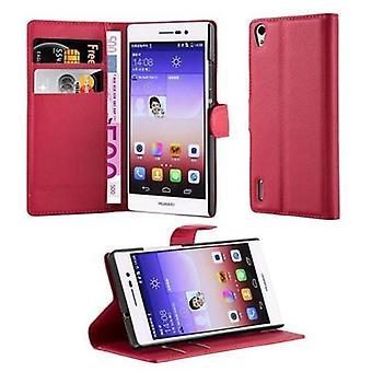 Cadorabo case for Huawei ASCEND P7 case case cover - phone case with magnetic clasp, stand function and card compartment – Case Cover Protective Case Case Book Folding Style