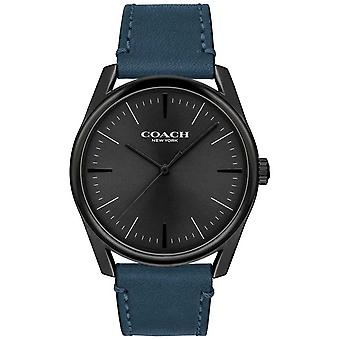 Trainer | Mens modernen Luxus | Blaues Lederarmband | 14602399 Uhr