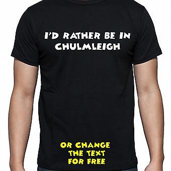 J'ai dû plutôt être dans Chulmleigh main noire imprimé t-shirt