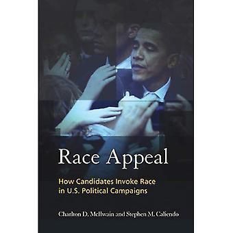 Rennen-Appeal: Rennen in den USA politische Kampagnen wie Kandidaten aufrufen