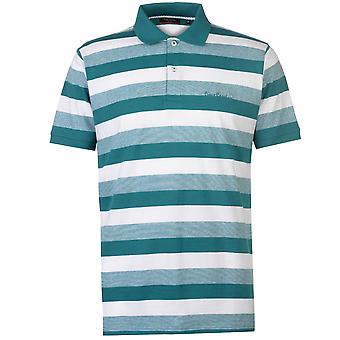 Pierre Cardin Mens Trio cor listrado camisa Polo t-shirt manga curta Top