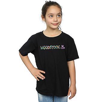 Woodstock tytöt Aztec Logo t-paita