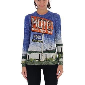 N°21 A03073470001 Women's Multicolor Wool Sweater