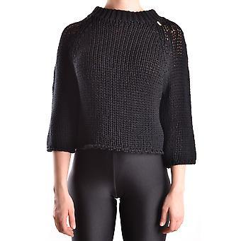 Elisabetta Franchi Ezbc050026 Women's Black Cotton Sweater