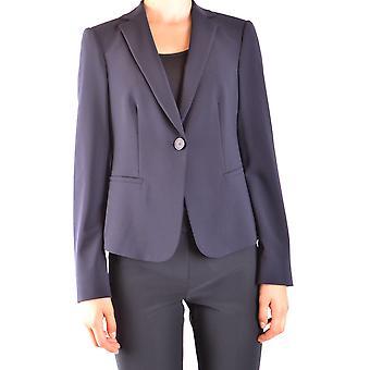 Armani Collezioni Ezbc049010 Damen's Blaue Wolle Blazer