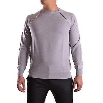 Paolo Pecora Ezbc059010 Men's Grey Wool Sweater