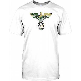 VW German Eagle Design-Camo-Miesten T-paita