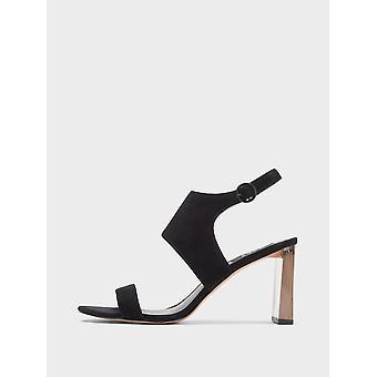 DKNY naisten Stina nahka avoin kärki erikoinen Slingback sandaalit