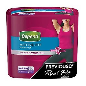 Depend Real Fit Underwear Lrg F 8S