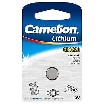 Camelion Battery CR1220 Lithium Button Cell 3V