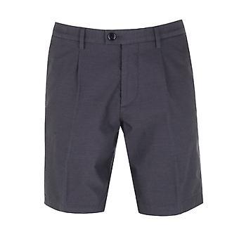 BOSS Scheibe kurz Marine texturiert Chino Shorts