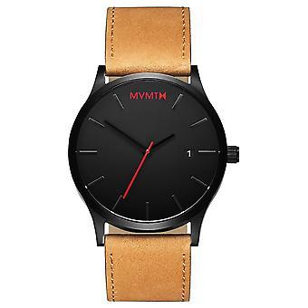 MVMT CLASSIC noir Tan hommes montre bracelet cuir L 213.5 L. 351