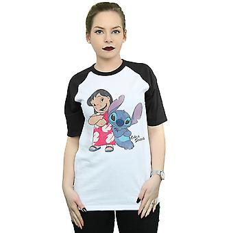 Disney Women's Classic Lilo And Stitch Baseball T-Shirt