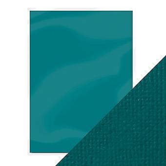 Craft perfect by Tonic Studios A4 weven getextureerde kaart (10pk) blauw groen