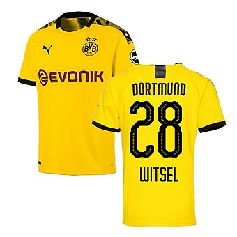 2019-2020 Borussia Dortmund Puma Home Football Shirt (WITSEL 28)